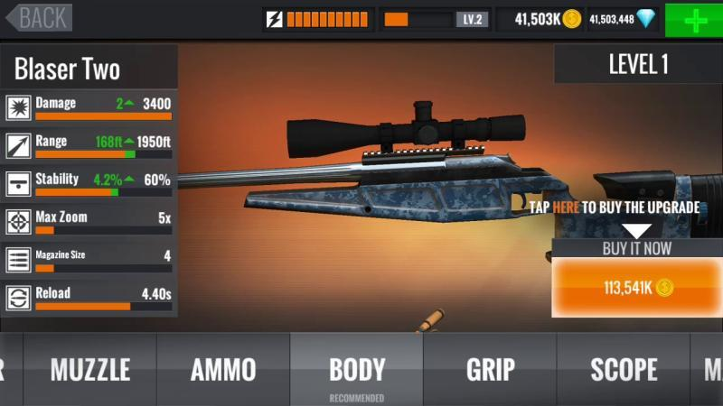sniper 3d mod apk unlimited money and gems revdl